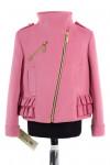 10-0245 Пальто детское демисезонное Кашемир Розовый