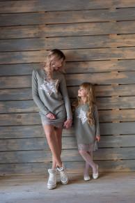 Платье Звезды детское  Family look мама дочка Одежда люкс