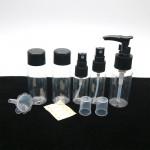 Дорожный набор бутылочек 5 предметов (черный)
