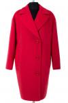 01-6160 Пальто женское демисезонное Кашемир Красный