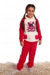 Детский костюм Панда (1033). Расцветка: велюр, коралл