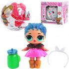 Кукла-сюрприз блестящая в шаре 1 штука