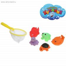 """Набор """"Рыбалка"""", сачок, 5 игрушек"""