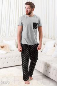Мужская байковая пижама