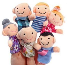 """Пальчиковые куклы """"Семейка"""" набор 6 шт."""