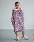 Платье с капюшоном Нарисованные цветочки 12