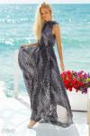 Шифоновое платье горошек