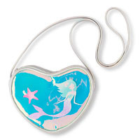 Girls Metallic Mermaid Heart Purse.