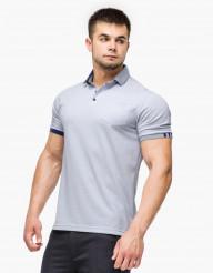 Практичная футболка поло серая Braggart модель 6073