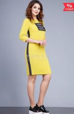 Платья, Спорт Модель 1686 чёрный с жёлтым