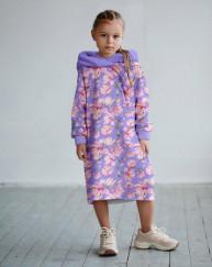 Платье с капюшоном Летние цветочки 1