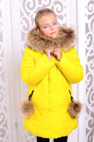 Куртка «Вика-дочка», желтая