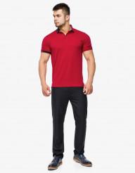 Красная комфортная футболка поло Braggart модель 6073