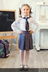 Школьный комплект для девочки юбка+галстук