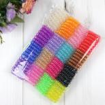 Набор маленьких силиконовых резинок-пружинок для волос 100шт