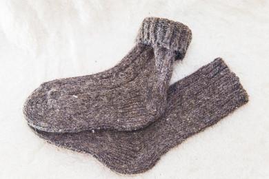 Носки шерстяные взрослые 90% овечья шерсть