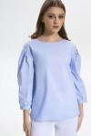 блуза LaVeLa Артикул: L50126 голубой/полоска
