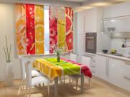 Фотошторы для кухни Фруктовый коллаж Габардин