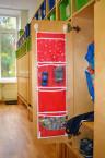 Кармашки для шкафчика, 5 отделений, красный, 72*20 см