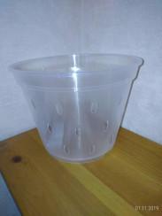 Горшок дренажный для орхидей 14*10,5 прозрачный