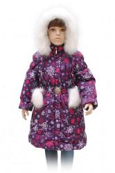 Зимнее пальто А 65-11 принт