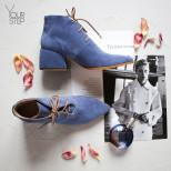 Ботильоны из замши цвета джинс. New Collection 19/20