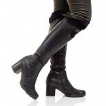 Женские кожаные ботфорты (байка/экомех - на выбор)