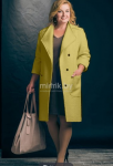 Пальто  Модель 434 олива Erika Style   Производитель: Erika