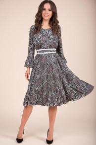 Платья Модель 1393 серый+леопард TEFFI style      Производит