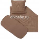 Набор в коляску вязка коричневый