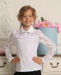 Трикотажная блузка «Гипюр-2»