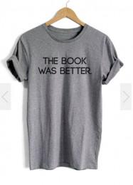 Футболка хлопок The book was better