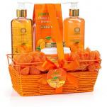 Home Spa Gift Basket - Orange & Mango Fragrance