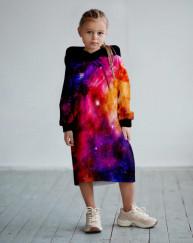 Платье с капюшоном Яркий космос