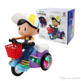 Игрушка интерактивная мальчик на велосипеде