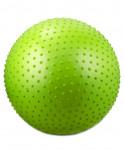 Мяч гимнастический массажный GB-301 (65 см, зеленый, антивзр