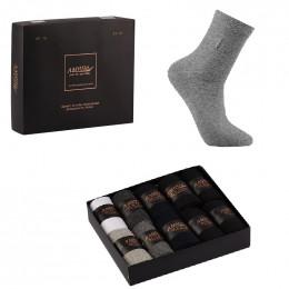 Носки мужские в подарочной упаковке, 10 шт.