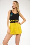 блуза, ремень, шорты LaVeLa Артикул: L40014 горчичный/черный