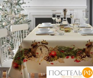 Скатерть 3D 'Рождество в узоре' СК-ГБ-003-10358, Габардин (1