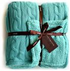 Knit Sherpa Oversized Throw Reversible Blanket  140x177