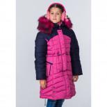 Пальто для девочки зимнее 6616 Пралеска розовый (Беларусь)