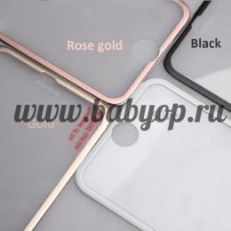 Защитное стекло с металлическим кантом для iPhone 6, 6S