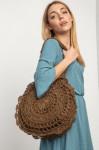 Ажурная плетёная круглая сумка 4515048
