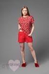 Женский костюм ЖК 026 (красный+чихуахуа)