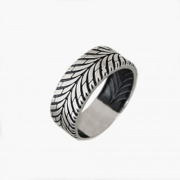 Кольцо мужское из серебра Драйв Юмила