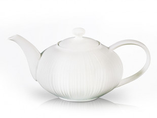 9351 FISSMAN Заварочный чайник ELEGANCE WHITE 1000 мл (фарфо