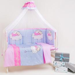 Набор в кроватку 7 предметов Дизайн 14