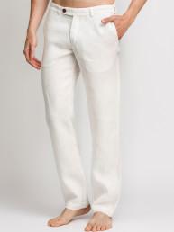 Мужские льняные брюки /ЦВЕТ:  белый