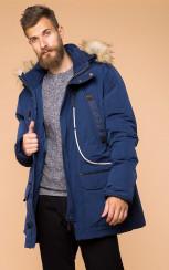 Теплая куртка с капюшоном MR 102 1664 0819 Dark Navy от MR52