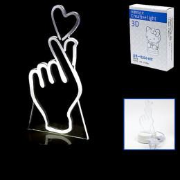 Светильник 3D, изображение сердца